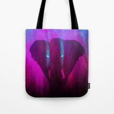 Neon Elephant Tote Bag
