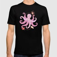 Octopatch Mens Fitted Tee Black SMALL