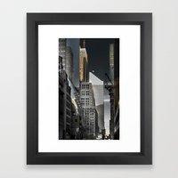 New york / Buildings Framed Art Print