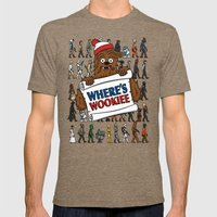 Where's Wookiee Mens Fitted Tee Tri-Coffee SMALL