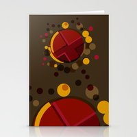 Circular Brown Abstract … Stationery Cards