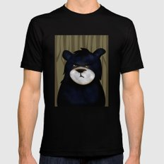 Bear Mens Fitted Tee SMALL Black