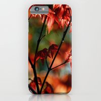 iPhone & iPod Case featuring flora in flame by Monica Ortel ❖