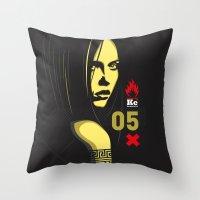 Fashion Dark Woman Throw Pillow