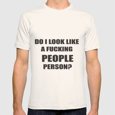People person? Mens Fitted Tee Natural SMALL