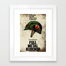 Full Metal Biochip Framed Art Print