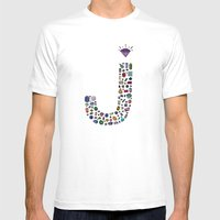 Letter J - Jewels Mens Fitted Tee White SMALL