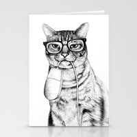 friends Stationery Cards featuring Mac Cat by florever