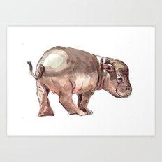 Baby hippo Art Print