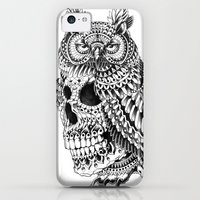 iPhone 5c Cases featuring Great Horned Skull by BIOWORKZ