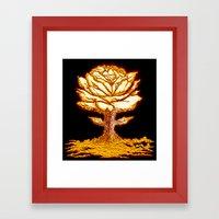 Atomic Bloom Framed Art Print