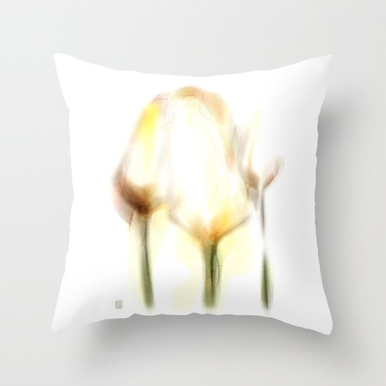 Three Tulips Throw Pillow