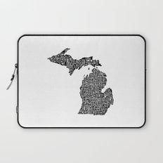 Typographic Michigan Laptop Sleeve