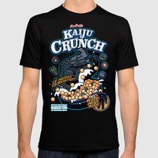 Kaiju Crunch SMALL Mens Fitted Tee Black