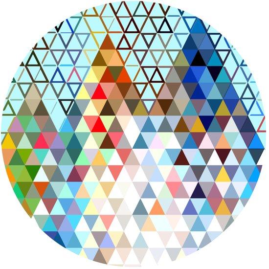 geometry rocks Art Print