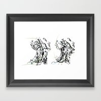 Head And Neck Framed Art Print