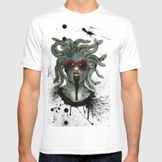 Medusa II Mens Fitted Tee SMALL White