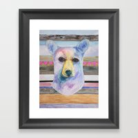 Bear Bust Framed Art Print