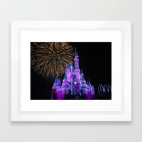 Disney Magic Kingdom Fir… Framed Art Print