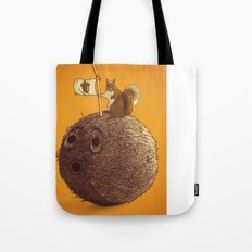Conquering the biggest nut Tote Bag