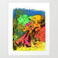 NEON Number 1 Art Print