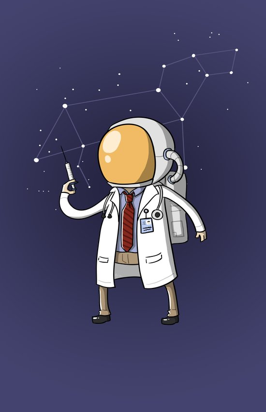 Dr. Spaceman Art Print