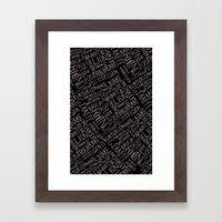Animal Block Framed Art Print
