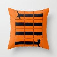 The Longcat Is Long Throw Pillow