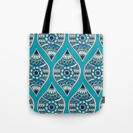 Morocco In Teal Tote Bag