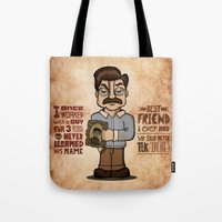 Ron Swanson 3 Tote Bag