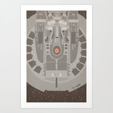 Star Trek NX - 01 Refit Art Print