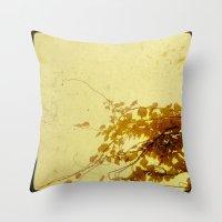 Golden Snrise Throw Pillow