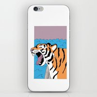 Tiger Yawn iPhone & iPod Skin