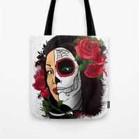 Candy Skull Beauty Tote Bag