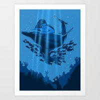 The Underwater Fantasy Art Print