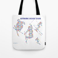 Skiing Silhouettes IV Tote Bag