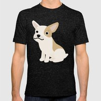 Frenchie - Cute Dog Series Mens Fitted Tee Tri-Black SMALL