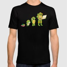 one mutation with extra cheese SMALL Mens Fitted Tee Black