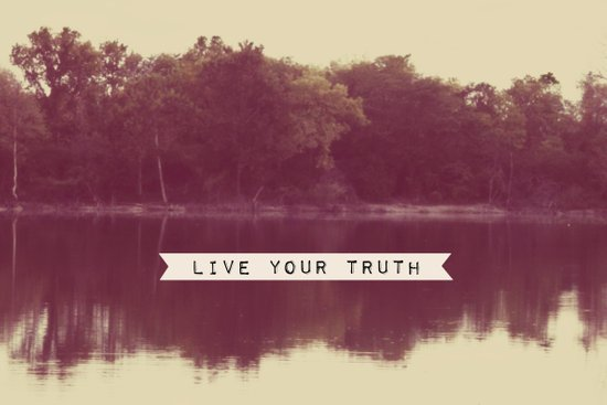live your truth Art Print