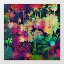 bright floral and bokeh Canvas Print