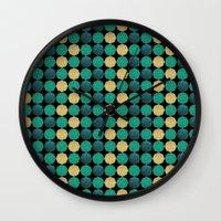 Glitzy Greens Wall Clock