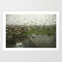 Looking Through the Rain Art Print