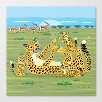Cheetahs And Gazelles Canvas Print