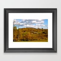 COUNTRY VIEW Framed Art Print