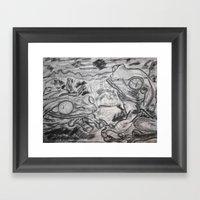 Dos Frogs Framed Art Print