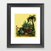 Roofle Garden Framed Art Print
