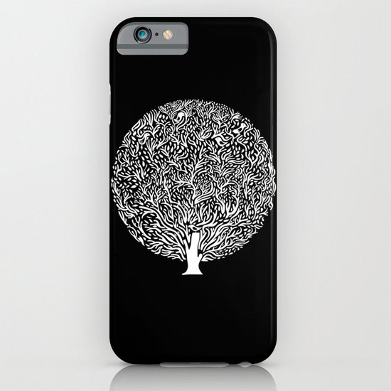 Black and White Tree iPhone & iPod Case