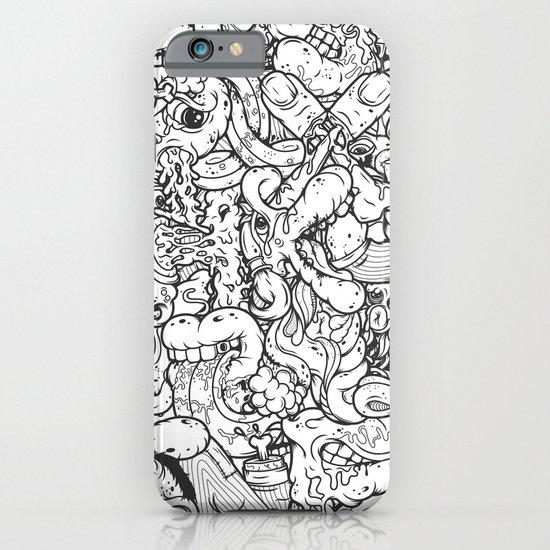 Alphabetcha Collage b&w iPhone & iPod Case