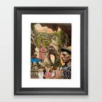 Castaways (Collage) Framed Art Print