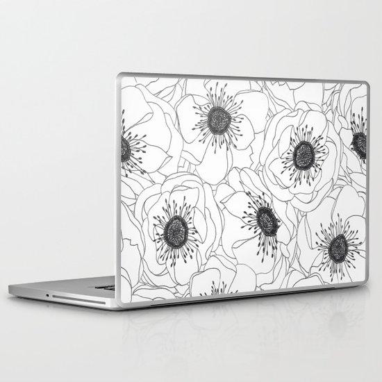 White Anemones Laptop & iPad Skin